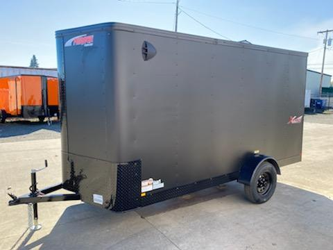 6x12 Enclosed Cargo Trailer ** Pitch Black Package ** Rear Ramp Door ** 24'' Stoneguard ** Black Mod Wheels*