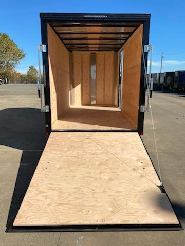 6x12 Enclosed Cargo Trailer ** Pitch Black Package ** Rear Ramp Door ** 24'' Stoneguard ** Black Mod Wheels*