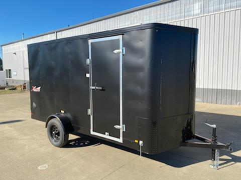 6x12 Enclosed Cargo Trailer ** Pitch Black Package ** Rear Ramp Door ** Rear Ramp Door ** 24'' Stoneguard ** Black Mod Wheels*