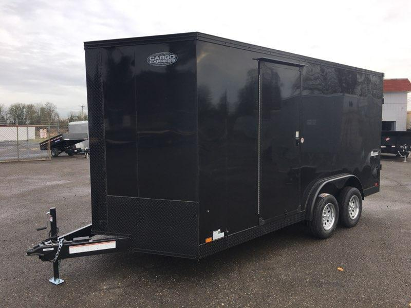 7X16 Enclosed Cargo Trailer **7.5 Wide Side X Side**