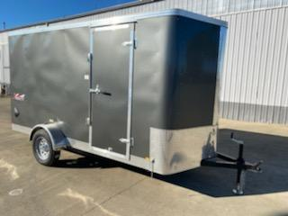 Enclosed Cargo Trailer  **  Charcoal  **  Rear Ramp Door  **