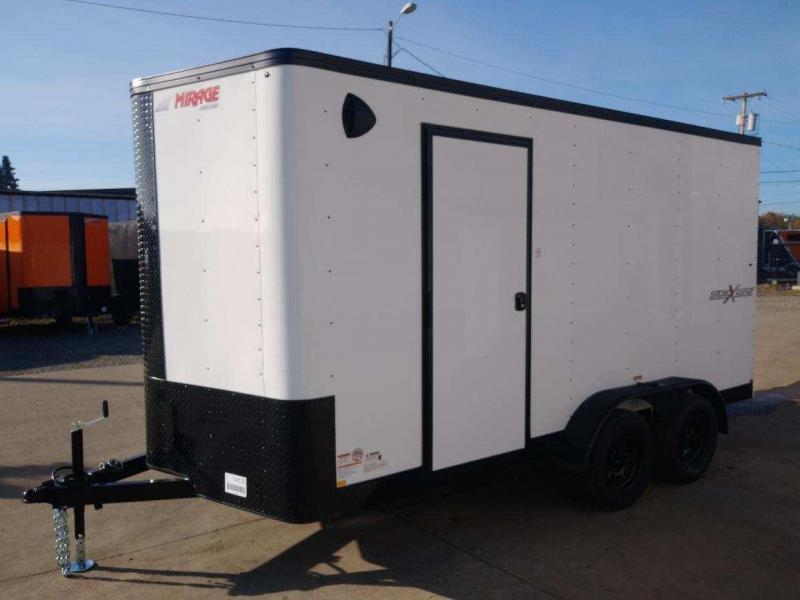 7 x 14 Enclosed Cargo Trailer ** Side by Side Package ** Road Side Door ** Rear Ramp Door **