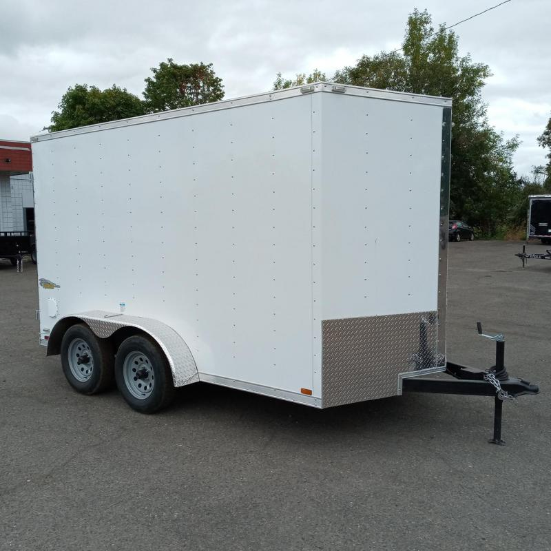 7x12 Tandem Axle Enclosed Cargo Trailer with Double Doors **FACTORY ORDER**