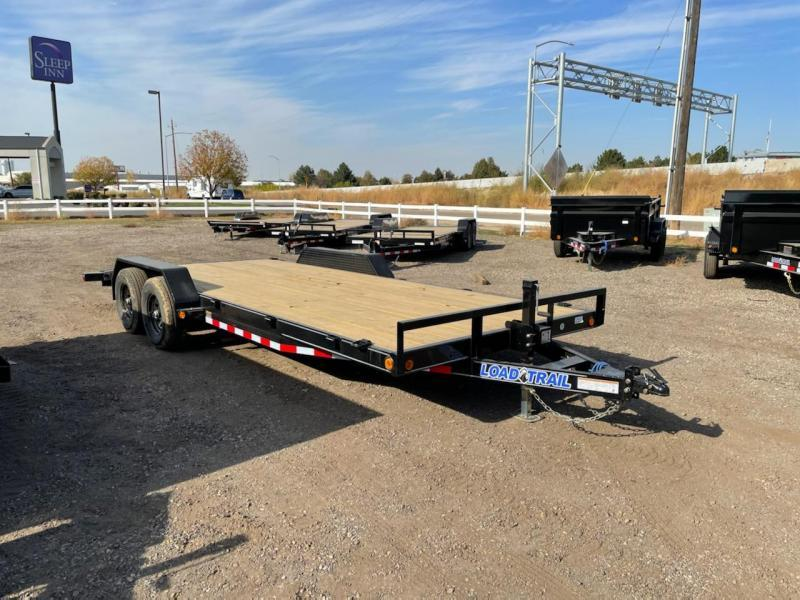 7x20 10k Flat Bed Car Hauler Trailer