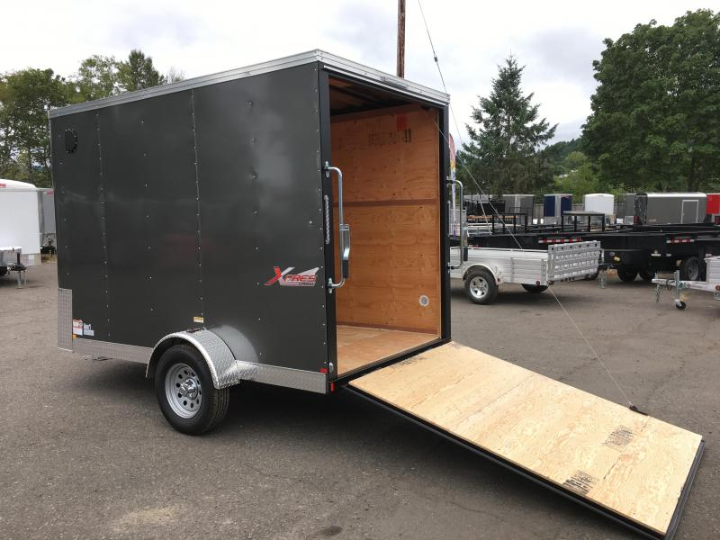 6x10 Enclosed Cargo Trailer With Rv Door And Ramp Door
