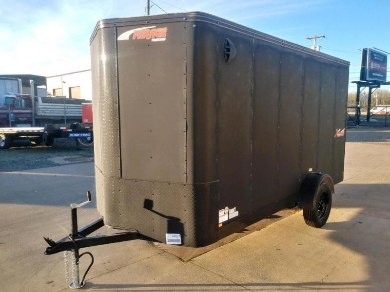 6 x 12 Enclosed Cargo Trailer  ** Rear Ramp Door  **  Spare Tire Mount **  Spare Tire  **