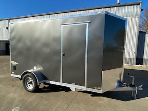 6 x 12 Enclosed Cargo Trailer  ** All Aluminum ** Rear Ramp Door ** 24'' Stoneguard **