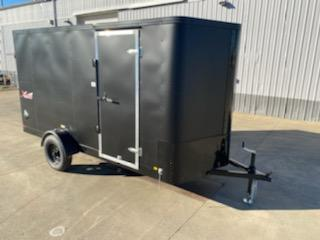 6 x 12 Enclosed Cargo Trailer ** Matte Black with Black Out Package ** Rear Ramp Door **