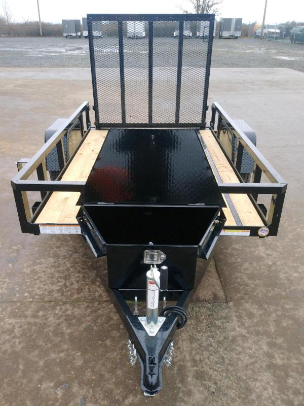 5x8 Heavy Duty Utility Trailer  **  Ramp Gate  **  Tool Box  **