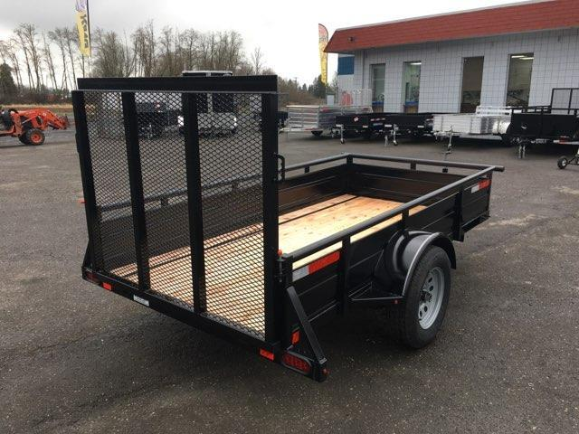 5x10 Utility Trailer With Drop Gate and 20 inch side