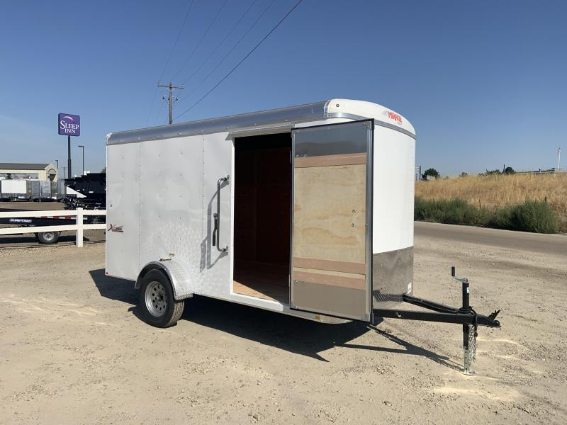 6x12 Enclosed Cargo Trailer with Rear Ramp Door