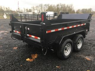 6x10 Dump Trailer 10K With Ramps And Spreader Gate