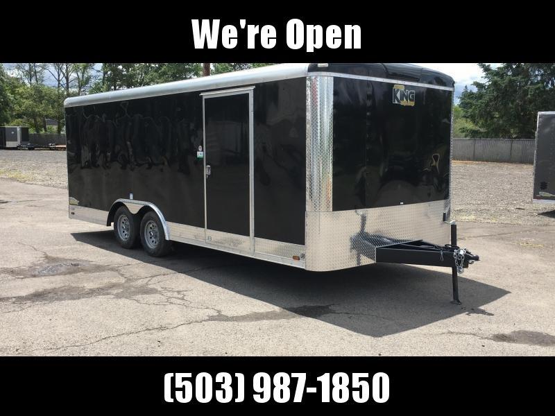 8.5x24 Enclosed Car Cargo Trailer **Plus Height**