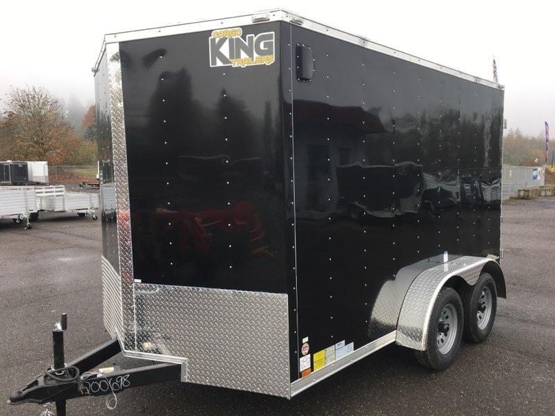 7x12 Tandem Axle Enclosed Cargo Trailer with Double Door