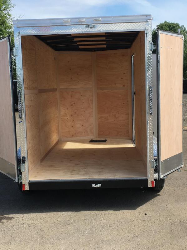 7x12 Tandem Axle Enclosed Cargo Trailer with Double Door