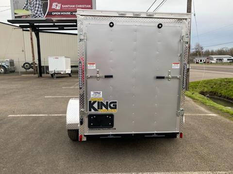 """5 x 8 Enclosed Cargo Trailer  **Rear Ramp Door **RV Door with Cam Lock **+6"""" Additional Height"""
