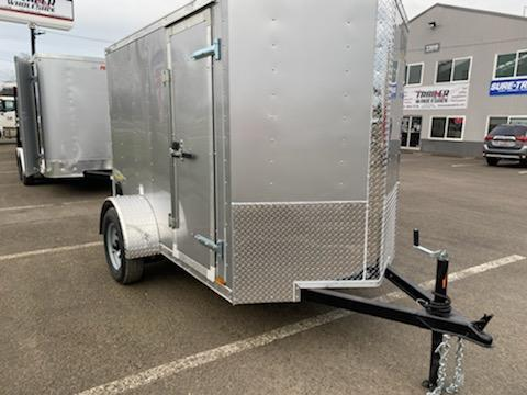 "5 x 8 Enclosed Cargo Trailer  **Rear Ramp Door **RV Door with Cam Lock **+6"" Additional Height"