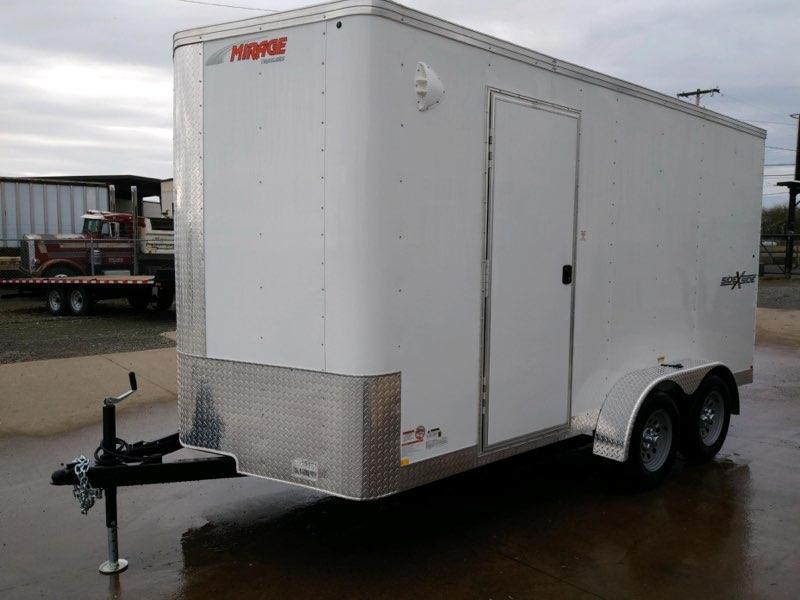 7 x 14 Enclosed Cargo Trailer ** Side x Side Package **  Rear Ramp Door  **