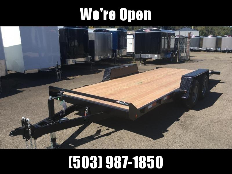 7x18 Car Hauler 10K TILT Open Utility Trailer ** With Removable Fender**