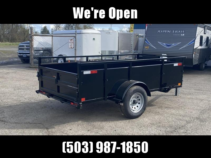 5x10 Utility Trailer With Swing Gate & Combo Ramp