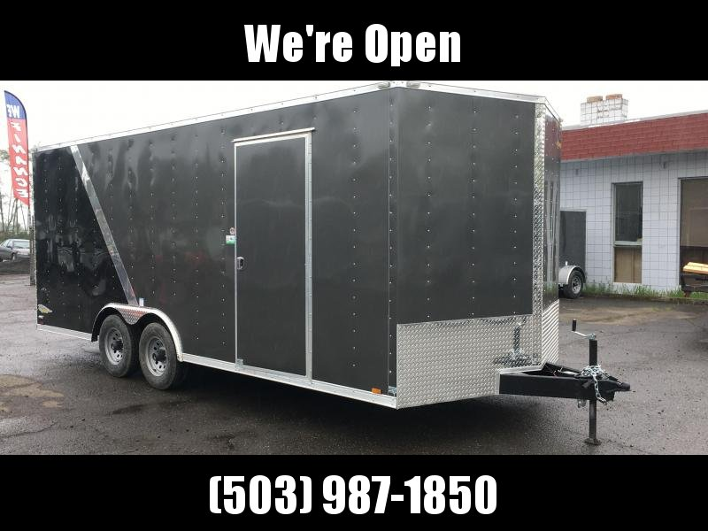 8.5x20 10k Enclosed Cargo Trailer **Two Tone Plus Height**