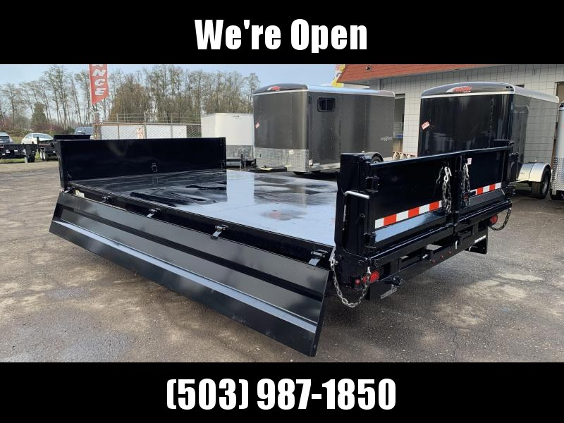 8x14 Deckover Dump Trailer 14K With Ramps And Fold Down Sides