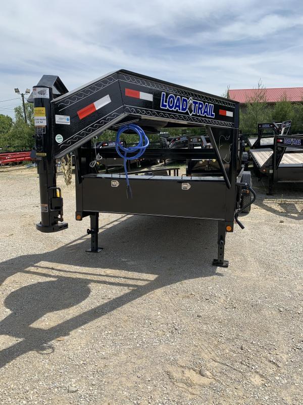 "83"" X 20' TANDEM GOOSENECK equipment hauler heavy duty lawn trailer"