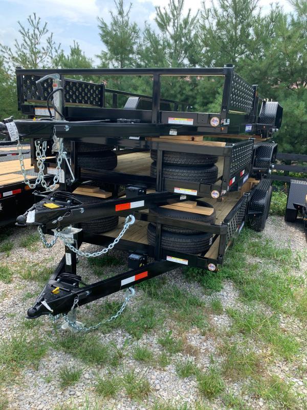2022 Sure-Trac 7 x 18 Tube Top ATV Trailer  7K Tandem