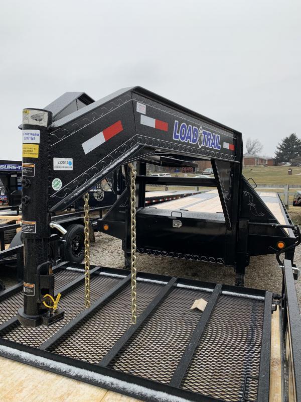 2021 Load Trail 32' hydraulic dovetail gooseneck Flatbed Trailer
