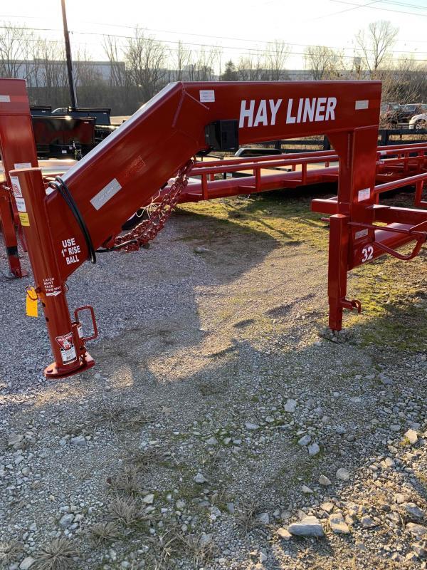 2021 Hayliner 32' gooseneck in line roll bale hauler Other Trailer