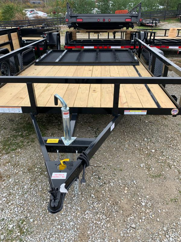 2021 Sure-Trac 7 x 10 Tube Top Utility Trailer  3K Idle
