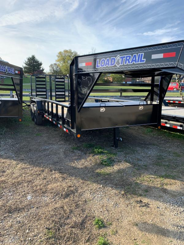 "83"" X 22' TANDEM GOOSENECK Equipment W/SIDE RAILS"