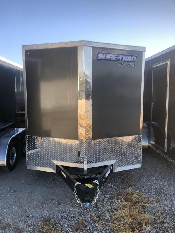 2021 Sure Trac 7 x 12 Pro Series Enclosed Wedge Cargo T