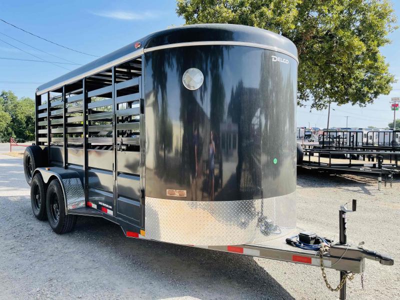 """2021 Delco Trailers Bumper Pull 6'8""""x16' Livestock Trailer"""