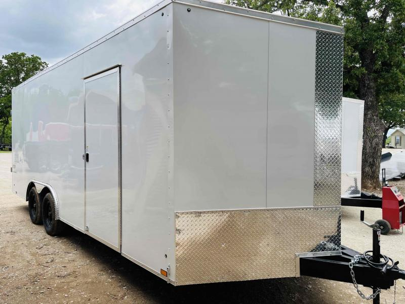 2022 Pace American 8.5'x20' Tandem Axle V-Nose Journey SE Flat Top Cargo Trailer