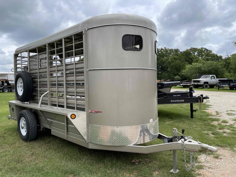 2021 GR Trailers 5' x 14' Bumper Pull Single Axle Livestock Trailer
