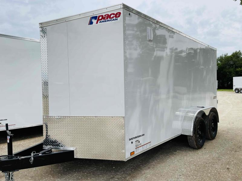 2022 Pace American 7'x14' Tandem Axle V-Nose Journey SE Cargo Trailer