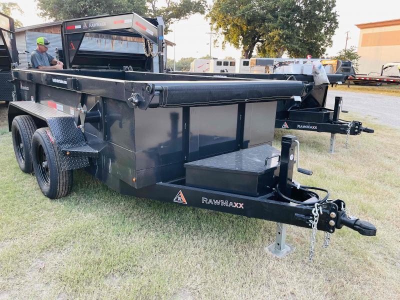 2022 RawMaxx 5'x10' Tandem Axle Bumper Pull Dump Trailer