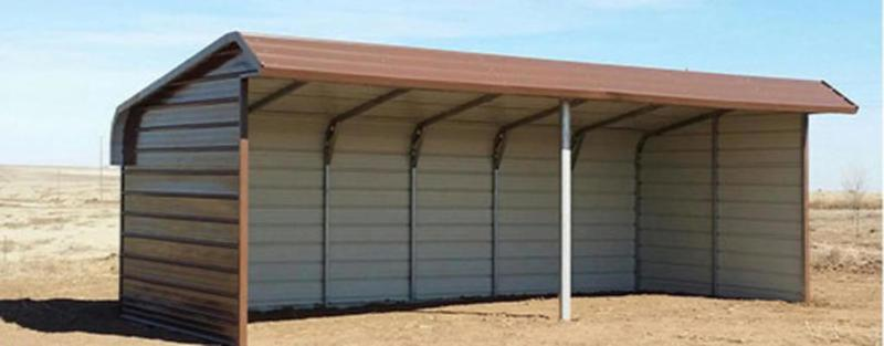 American Steel Carports Inc. Loafing Shed