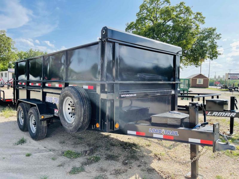 """2021 Load Trail 16'x83"""" Tandem Axle Bumper Pull Dump Trailer"""