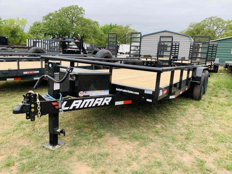 "2021 Lamar Trailers  20'x83"" Tandem Axle Utility Trailer-Flip Up Ramps"