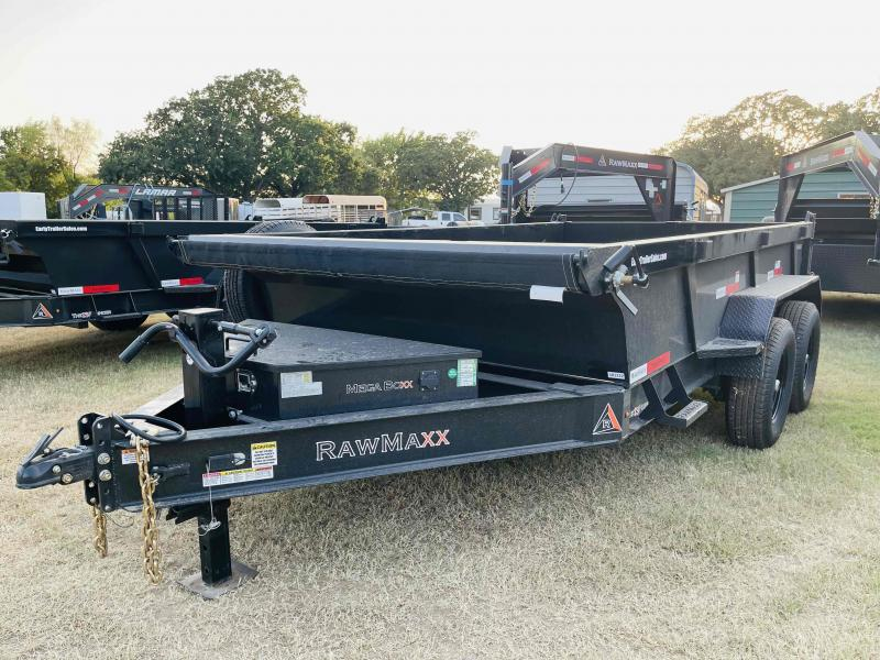 "2022 RawMaxx 12'x83"" Bumper Pull Dump Trailer"