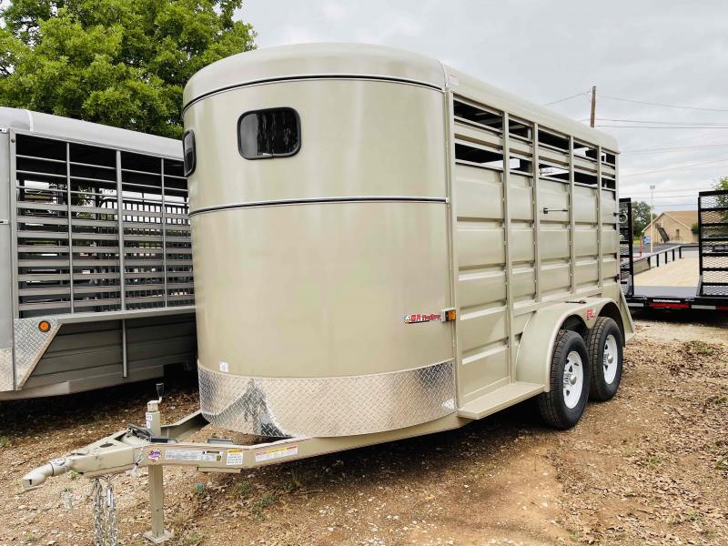 2021 GR Trailers 6'x14' Bumper Pull Solid Top Livestock Trailer