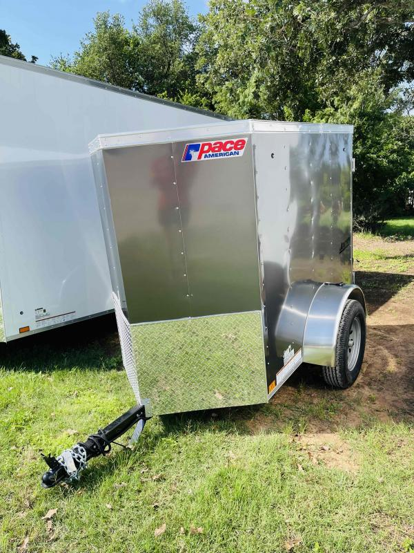 2022 Pace American  4'x6' Single Axle Cargo Trailer V-Nose Journey