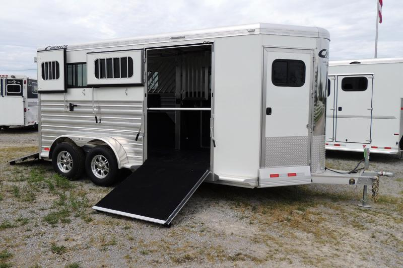 2021 Cimarron XL Stalls & Side Ramp 2 Horse BP Trailer