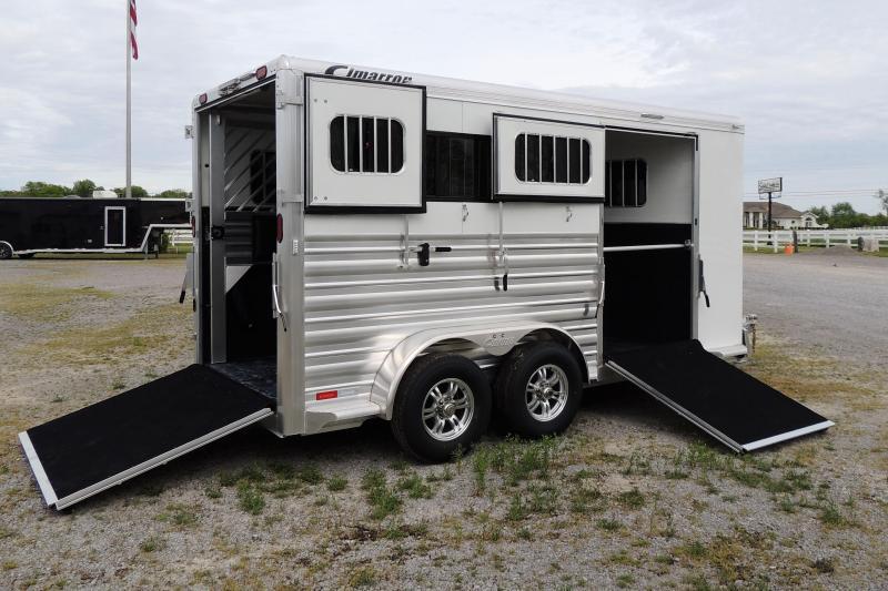 2021 Cimarron XL Stalls & Side Ramp 2 Horse BP Trailer