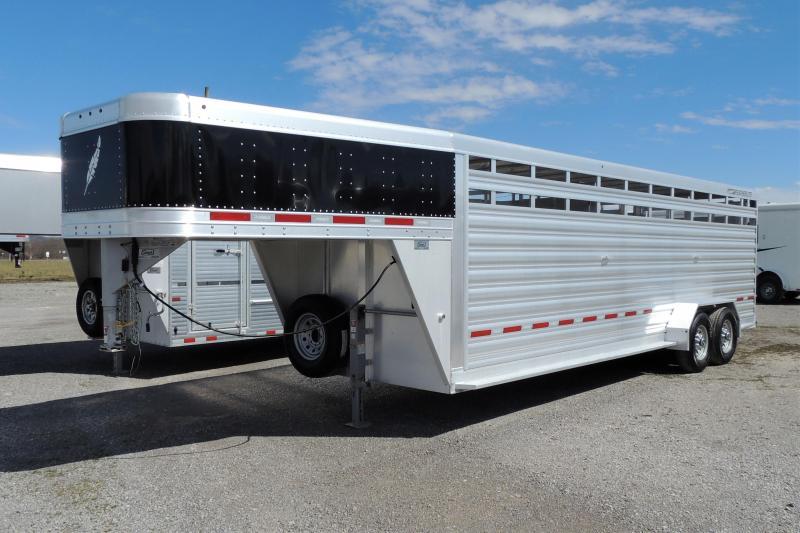"2020 Featherlite 24' x 6'7"" Livestock Trailer"