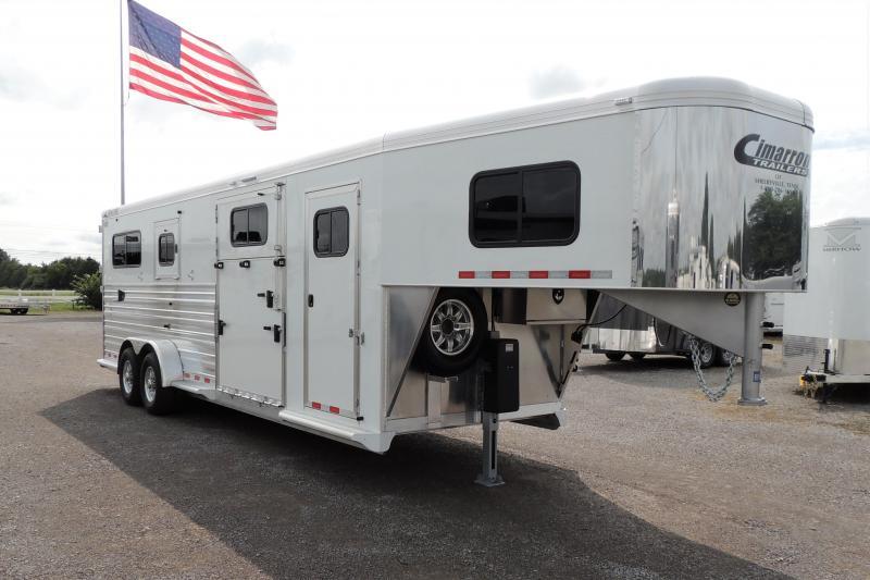 2021 Cimarron 2+1 Deluxe PKG Horse Trailer
