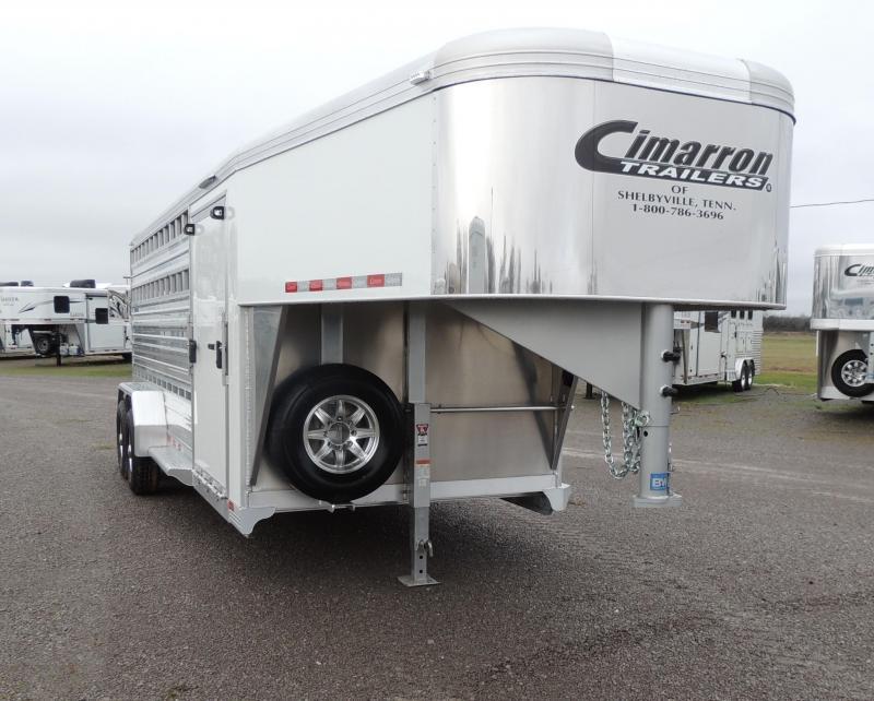 """2020 Cimarron Lonestar 20' x 6'10"""" Livestock Trailer"""