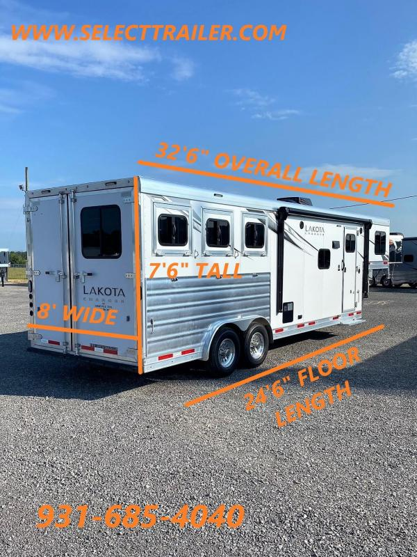 2022 Lakota Charger 8309 Horse Trailer